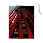 Red Building City Drawstring Pouches (Extra Large) Front