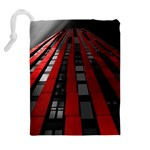 Red Building City Drawstring Pouches (Extra Large) Back