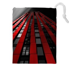 Red Building City Drawstring Pouches (XXL)