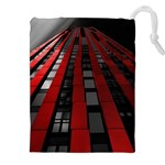 Red Building City Drawstring Pouches (XXL) Front