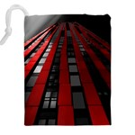 Red Building City Drawstring Pouches (XXL) Back
