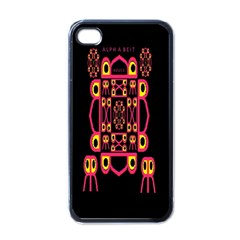 Alphabet Shirt Apple iPhone 4 Case (Black)