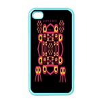 Alphabet Shirt Apple iPhone 4 Case (Color) Front