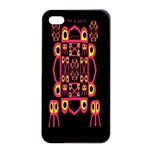 Alphabet Shirt Apple iPhone 4/4s Seamless Case (Black) Front