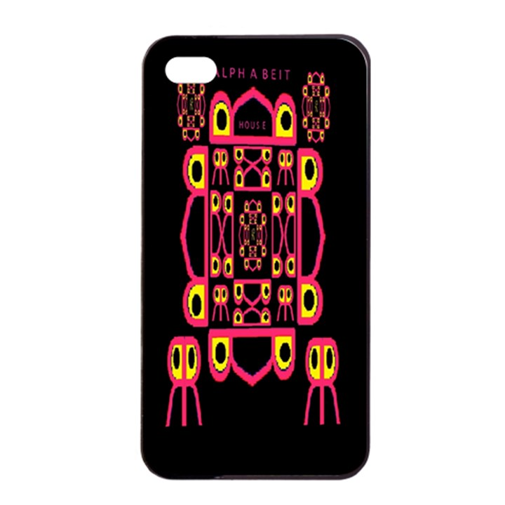 Alphabet Shirt Apple iPhone 4/4s Seamless Case (Black)