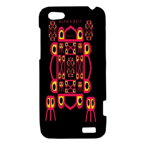 Alphabet Shirt HTC One V Hardshell Case