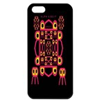 Alphabet Shirt Apple iPhone 5 Seamless Case (Black) Front