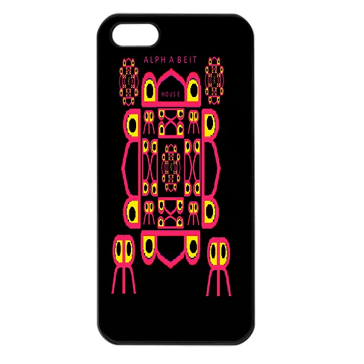 Alphabet Shirt Apple iPhone 5 Seamless Case (Black)