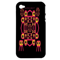 Alphabet Shirt Apple Iphone 4/4s Hardshell Case (pc+silicone)