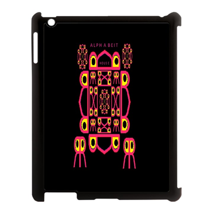 Alphabet Shirt Apple iPad 3/4 Case (Black)