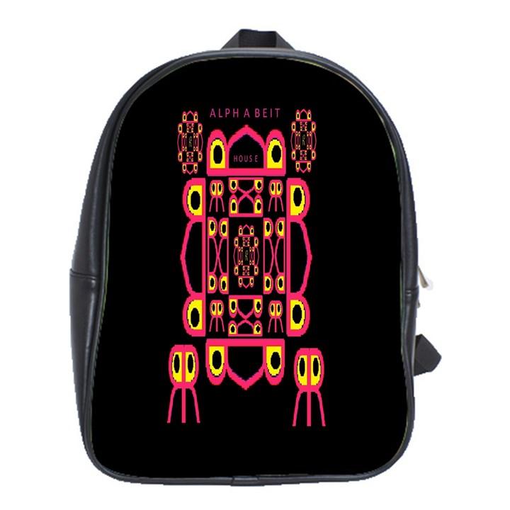 Alphabet Shirt School Bags (XL)