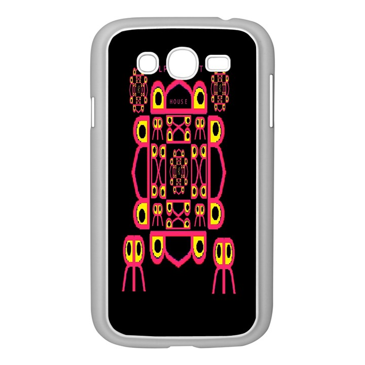 Alphabet Shirt Samsung Galaxy Grand DUOS I9082 Case (White)