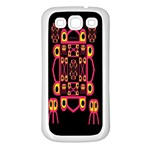 Alphabet Shirt Samsung Galaxy S3 Back Case (White) Front