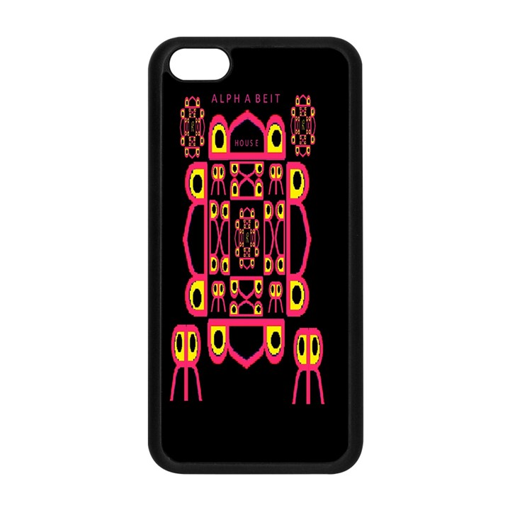 Alphabet Shirt Apple iPhone 5C Seamless Case (Black)