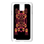Alphabet Shirt Samsung Galaxy Note 3 N9005 Case (White) Front