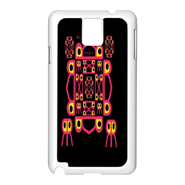 Alphabet Shirt Samsung Galaxy Note 3 N9005 Case (White)