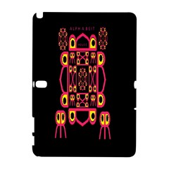 Alphabet Shirt Samsung Galaxy Note 10 1 (p600) Hardshell Case