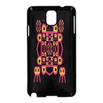 Alphabet Shirt Samsung Galaxy Note 3 Neo Hardshell Case (Black) Front