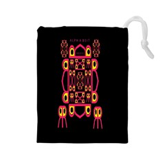 Alphabet Shirt Drawstring Pouches (large)