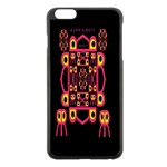 Alphabet Shirt Apple iPhone 6 Plus/6S Plus Black Enamel Case Front
