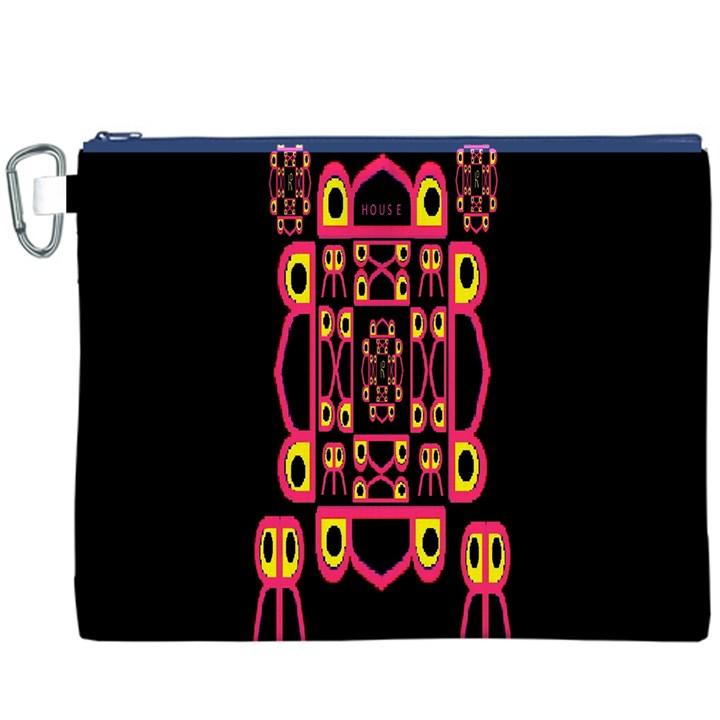 Alphabet Shirt Canvas Cosmetic Bag (XXXL)