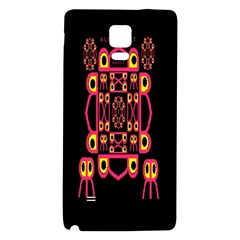 Alphabet Shirt Galaxy Note 4 Back Case