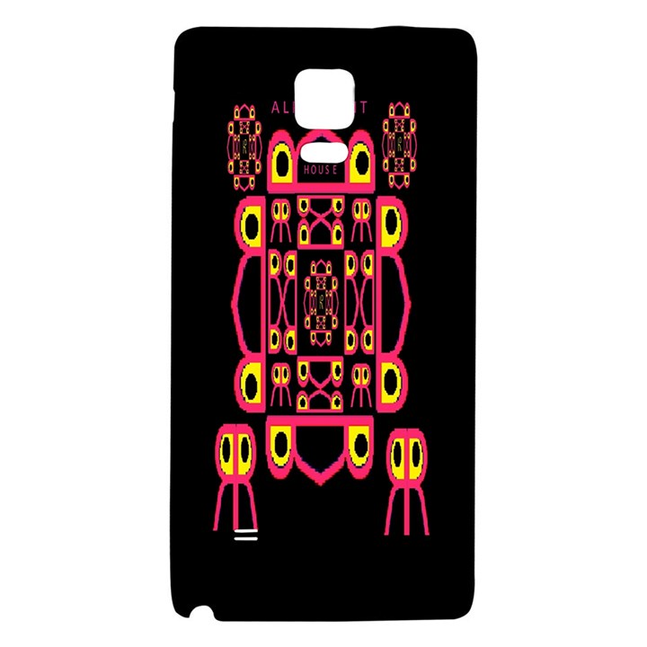 Alphabet Shirt Galaxy Note 4 Back Case