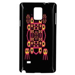 Alphabet Shirt Samsung Galaxy Note 4 Case (Black) Front