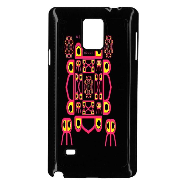 Alphabet Shirt Samsung Galaxy Note 4 Case (Black)