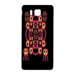 Alphabet Shirt Samsung Galaxy Alpha Hardshell Back Case Front