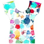 Colorful Diamonds Dream Women s V-Neck Cap Sleeve Top Front