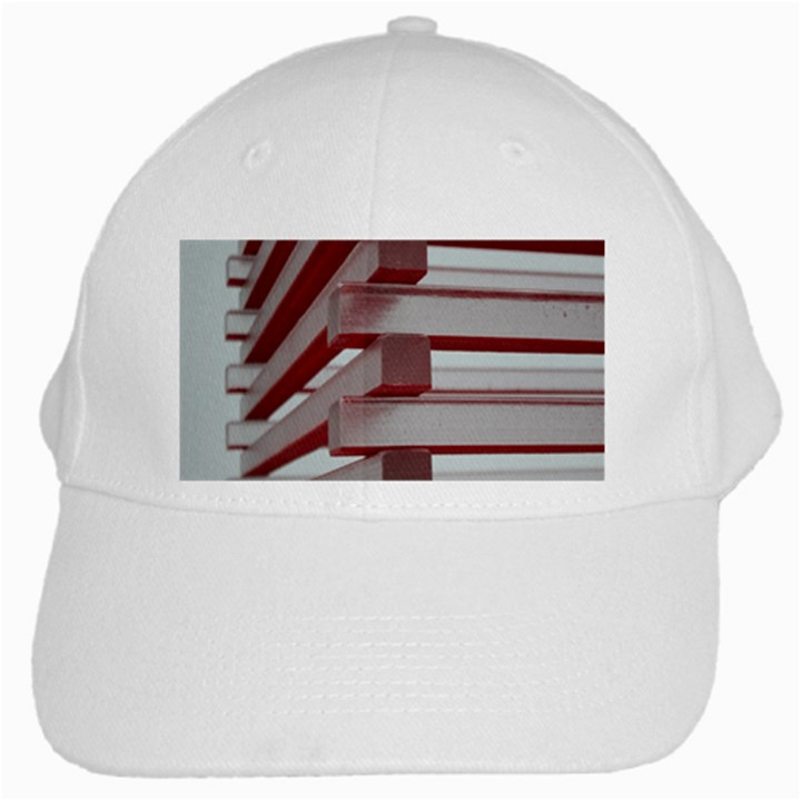 Red Sunglasses Art Abstract  White Cap
