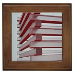 Red Sunglasses Art Abstract  Framed Tiles Front