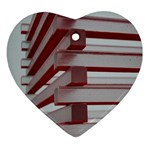 Red Sunglasses Art Abstract  Ornament (Heart)  Front