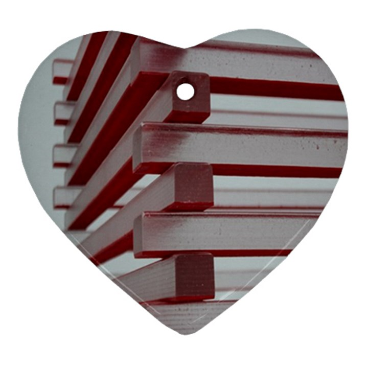 Red Sunglasses Art Abstract  Ornament (Heart)