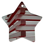 Red Sunglasses Art Abstract  Ornament (Star)  Front