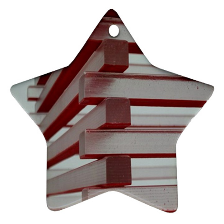 Red Sunglasses Art Abstract  Ornament (Star)