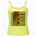 Red Sunglasses Art Abstract  Yellow Spaghetti Tank Front