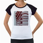 Red Sunglasses Art Abstract  Women s Cap Sleeve T Front