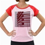 Red Sunglasses Art Abstract  Women s Cap Sleeve T-Shirt Front