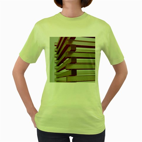 Red Sunglasses Art Abstract  Women s Green T-Shirt