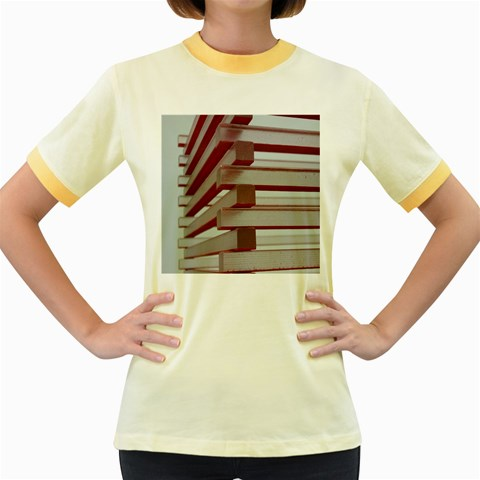 Red Sunglasses Art Abstract  Women s Fitted Ringer T-Shirts