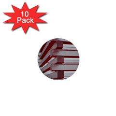 Red Sunglasses Art Abstract  1  Mini Buttons (10 pack)