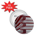 Red Sunglasses Art Abstract  1.75  Buttons (10 pack) Front