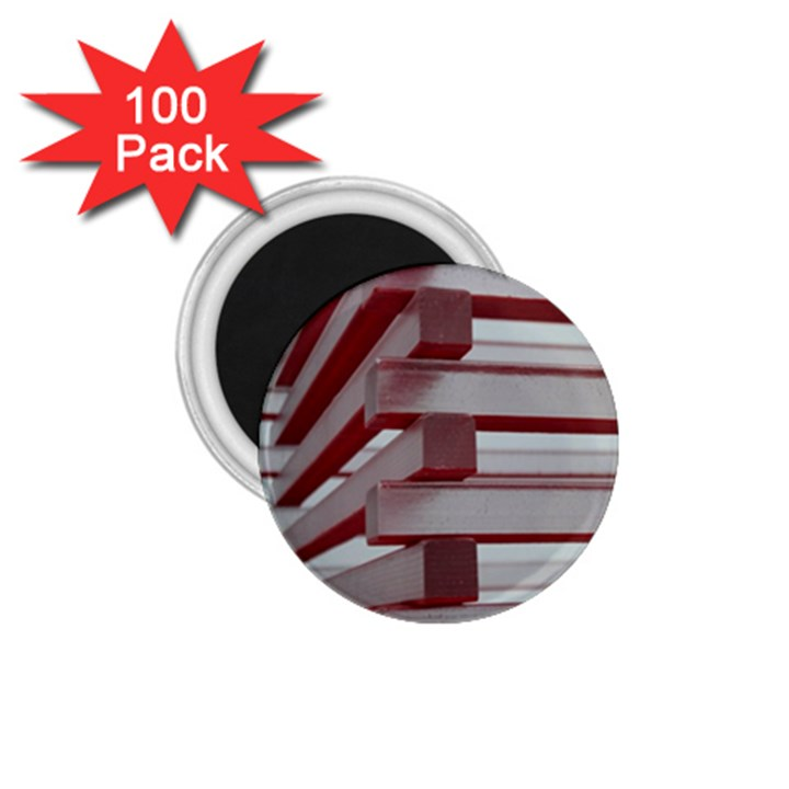 Red Sunglasses Art Abstract  1.75  Magnets (100 pack)