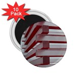 Red Sunglasses Art Abstract  2.25  Magnets (10 pack)  Front