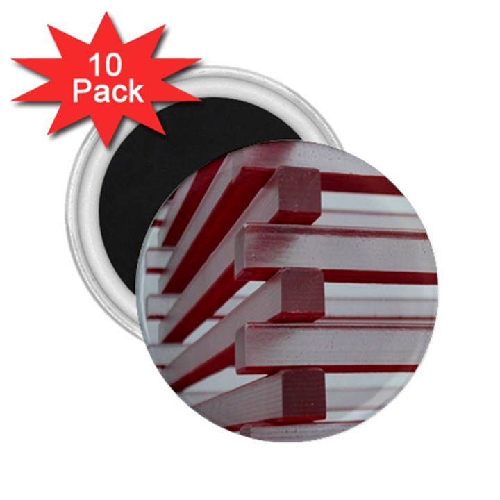 Red Sunglasses Art Abstract  2.25  Magnets (10 pack)