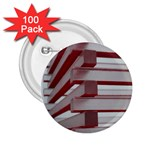 Red Sunglasses Art Abstract  2.25  Buttons (100 pack)  Front