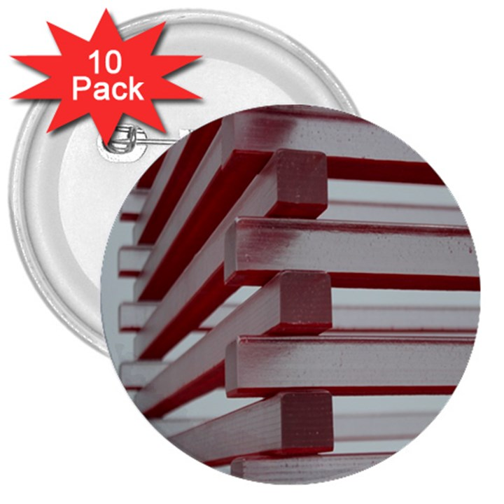 Red Sunglasses Art Abstract  3  Buttons (10 pack)