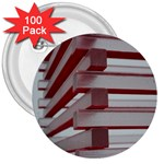 Red Sunglasses Art Abstract  3  Buttons (100 pack)  Front